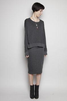 Totokaelo - Raquel Allegra - Long Sleeve Pullover - Charcoal