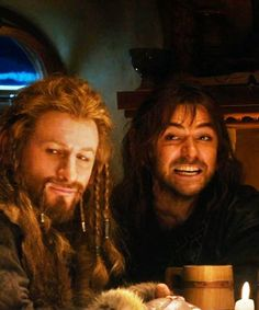 "Fili and Kili, so eager to begin their quest ""Kili, SO not majestic."""