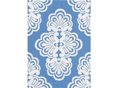 Lee Jofa SHELL WE TIDE BLUE 2011104.5 - Lee Jofa New - New York, NY, 2011104.5,Lee Jofa,Print,0019,White,White,Heavy Duty,S,Spot Resistant,Up The Bolt,Lilly Pulitzer,USA,Damask,Multipurpose,Yes,Lee Jofa,No,SHELL WE TIDE BLUE