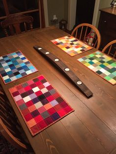 The placemats  were such a big hit ... I went ahead and made a 2nd set for a birthday present for another friend.              Again, using...