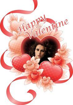 Montajes online con corazones para San Valentín.