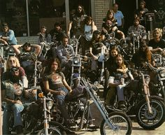 Gotta love the 70's... All that hair! and all those real Bikers, not a wannabe in sight