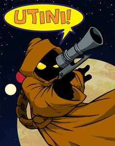 """Utini!  """"come here"""" in Jawaese. But maybe it means """"Come at me, Bro!"""" in this context."""