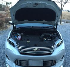 TOYOTA 新型ハリアーのエクステリア。ボンネットを開けた状態です。 http://bloooger.jp/harrier/ #ハリアー #自動車 #SUV