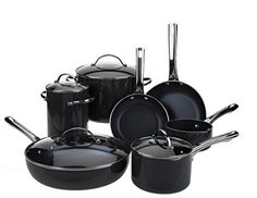 Look at this Dark Green Rachael Ray Hard Anodized Cookware Set Enamel Cookware, Cookware Set, Small Dining Area, Bakeware, How To Cook Pasta, Kitchen Gadgets, Cleaning Wipes, Porcelain, Qvc