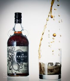 http://500px.com/photo/182497919 Release the Kraken by rfoliente2010 -Trying to depict a rum and coke being made using The Kraken Rum and pouring some coke into a nice tumbler.. Tags: FoodRumFood PhotographyCokeKrakenBeverages
