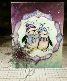 Merry Monday #166 - Penguins by tjacoby98 - Cards and Paper Crafts at Splitcoaststampers