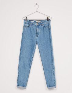 'Mom fit' jeans hight waist - Jeans - Bershka Ukraine
