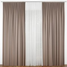 Faux Bamboo Blinds A Semi DIY - Craftivity Designs. Curtains: Create Your Awesome Window Decor With Menards . Long Curtain Rods For Sunrooms And Big Windows . Home and Family High Curtains, Modern Curtains, Curtains With Blinds, 3d Interior Design, House Paint Interior, Living Room Decor Curtains, Bedroom Decor, 3ds Max, Curtain Designs For Bedroom