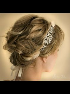 Beautiful updo with headband