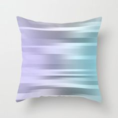 Blue Purple Gray   Pillow Cover  Cover Only  by ShelleysCrochetOle
