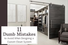 How to Design a Custom Closet & Avoid Mistakes – Innovate Home Org Columbus Ohio - Innovate Home Org Master Closet Design, Custom Closet Design, Walk In Closet Design, Master Bedroom Closet, Custom Closets, Closet Designs, Kids Bedroom, Closet Renovation, Closet Remodel