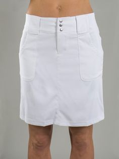 Check out what @lorisgolfshoppe has for your days on and off the golf course! JoFit Ladies Belted Golf Skorts - White