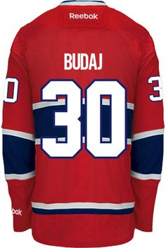Montreal Canadiens Peter BUDAJ 30 Official Home Reebok Premier Replica NHL  Hockey Jersey (HAND ... fcb3aa24bf7