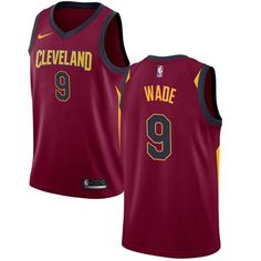 Nike Cavaliers  9 Dwyane Wade Red Stitched NBA Swingman Jersey Volleyball  Jerseys c929511f5