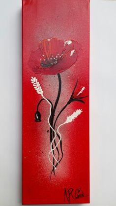 artiste raffin christine en rouge et noir peinture acrylique sur toile ch ssis 3d 20x60. Black Bedroom Furniture Sets. Home Design Ideas