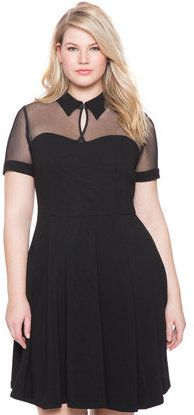Plus Size Studio Collared Fit and Flare Dress - Eloquii