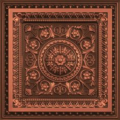 "La Scala - Faux Tin Ceiling Tile - 24""x24"" - #223 Expensive, but would be good in a basement bathroom if there was a drop ceiling."
