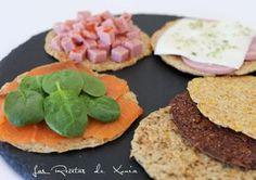 TORTA DE SALVADO DE AVENA DUKAN | 4 cdas salvada de avena 2 cdas salvado de trigo 2 cdas queso batido 2 claras sal y especias al gusto