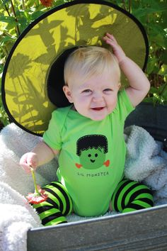 Halloween Baby onesie Lil Monster FRANKENSTEIN