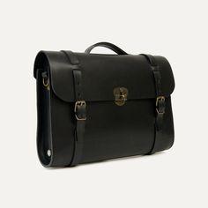 Bleu de Chauffe | Men | Leather satchel bag | Scott, The Writer's bag | Made in France