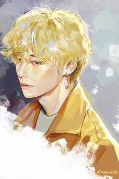 Kim Taehyung (from BTS) fanart Fanart Kpop, Bts Anime, Taehyung Fanart, Bts Taehyung, Kpop Drawings, Fanarts Anime, Digital Portrait, Bts Pictures, Bts Wallpaper