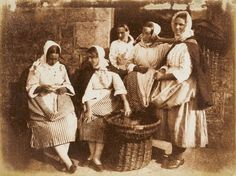 David Octavius Hill and Robert Adamson -  Five Newhaven fisherwomen, 1844