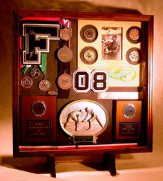 Wood Shadow Boxes for Sports