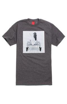 New Visual by Van Styles Mens Gray Sweater Girl Graphic Print Tee T-Shirt Size M #Vans #GraphicTee