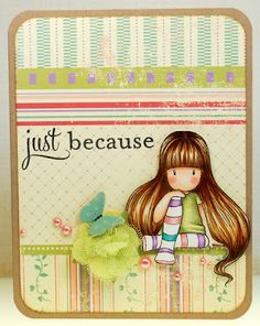 just because gorjuss girl by 1000 sheets of paper!