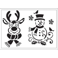 Viva Decor Universal stencils are perfect for using on all surfaces and flat objects such as canvas, wood, MDF and papier mache, plastered walls and textiles. One durable and washable polyester stencil measuring approximately x Christmas Rock, Christmas Svg, Christmas Images, Christmas Projects, Holiday Crafts, Christmas Decorations, Christmas Ornaments, Xmas, Stencil Patterns
