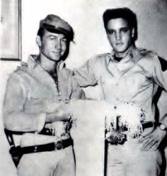 Elvis and his friend Nick Adams ( actor ) Nick was filming a movie at the time of Elvis was filming G-I blues in spring Nick Adams died in 1968 at 37 years old ( suicide ). Nick Adams, Love U Mom, King Creole, 4 Sisters, Hugh Hefner, Lisa Marie Presley, Actor Model, Elvis Presley, Monochrome
