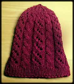 0d68e0c1298 Pretty Chilly Hat - Worsted Version. Knitted HatsRavelryCharityKnit ...