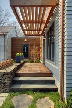 The wooden pergola is a good solution to add beauty to your garden. If you are not ready to spend thousands of dollars for building a cozy pergola then you may devise new strategies of trying out something different so that you can re Pergola Patio, Pergola Swing, Deck With Pergola, Wooden Pergola, Covered Pergola, Pergola Shade, Patio Roof, Pergola Ideas, Metal Pergola