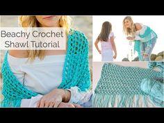 Beachy Crochet Shawl Tutorial - Beginner Friendly - YouTube