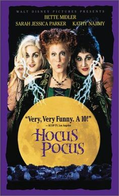 Hocus Pocus. I adored this movie growing up. So much so I watched it almost daily and wished I could be a witch so I could move items around, preferably towards me so I wouldn't have to get up and get it. Lol