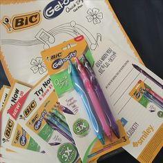 Smooth to write with and quick to dry #BICGelocity #freesample #ad