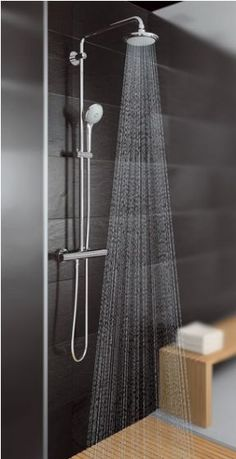 Simple shower system with slider and fixed head - Grohe Euphoria Shower System