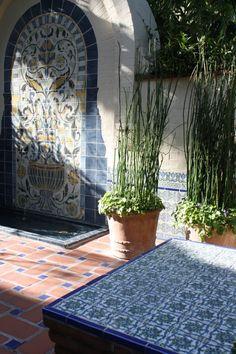 Great tile work at the Biltmore, Santa Barbara  #santabarbara #tile #architecture