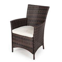 Greenfingers Moncafa Rattan Armchair BlackBrown on Sale | Fast Delivery | Greenfingers.com