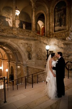 Boston Public Library wedding - where better to have a Beauty and the Beast wedding than a library?