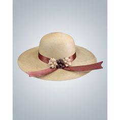 Sombrero de Flores - Hermoso y elegante sombrero de mujer, trabajado 100% en paja toquilla, tejido a mano. Es un sombrero cómodo decorado con flores de cinta, perfecto para usarlo en la playa.