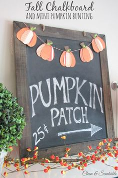 Fall chalkboard and