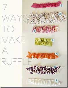 Ruffles  Amy Jo is so creative! She turns a tank into a girl's mighty by adding these ruffles.