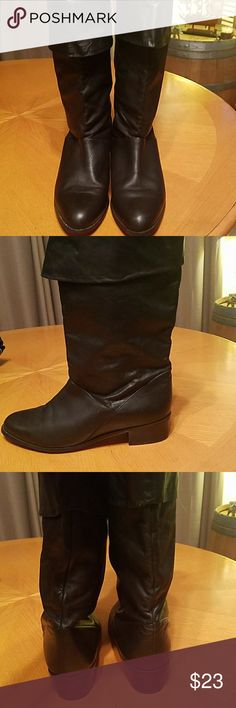 Soft Black leather calf boots Soft Black leather calf boots, Made in Brazil, 8 or 8.5 M FLINGS ELLEN II Shoes Winter & Rain Boots