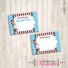 Dr Seuss Book Label Book Label Book Plate Dr by designsbyVancette