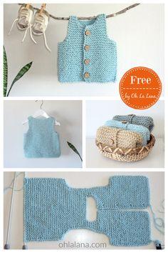 Crochet Baby Cardigan Free Pattern, Baby Boy Knitting Patterns Free, Boy Crochet Patterns, Baby Booties Knitting Pattern, Baby Sweater Patterns, Knit Baby Sweaters, Free Knitting, Crochet Hats, Knitted Baby