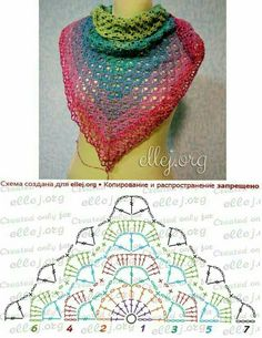 Moje Hand Made: Chusta i Creation Point de Croix nr post was discovered by esti brustein discover and save your own posts on unirazi salvabrani – ArtofitDiscover thousands of images about Crochet shawl pattern diagramRavelry: Calypso pattern Poncho Crochet, Col Crochet, Crochet Shawl Diagram, Crochet Triangle, Crochet Shawls And Wraps, Crochet Chart, Crochet Scarves, Crochet Clothes, Crochet Stitches