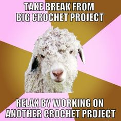 You know you're a crochet addict when...I totally do this