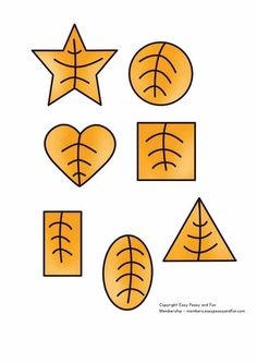 Autumn Leaf Shapes Shape Worksheets For Preschool, Preschool Learning Activities, Preschool Printables, Book Activities, Education And Development, Kids Education, Crafts With Pictures, Kindergarten, Leaf Shapes